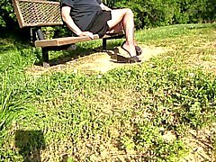 park bench crossdresser