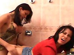 Hot sex in a rest room