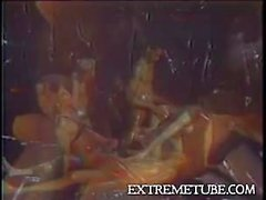 Vintage oiled orgy