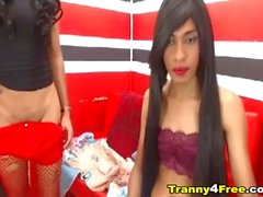Big Cock Tranny Babe Jerking Off On Cam