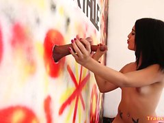 Young TS Latina Hot Gloryhole Experience