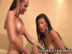 Kalena Rios and Miriany Ribeiro - Shemale Domination