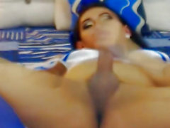 Pretty T-Girl Masturbating on Livecam