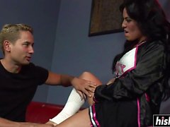 Foxxy gets banged by a horny friend