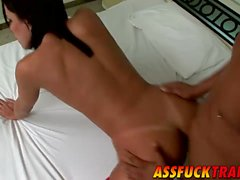 Cute tranny Hilda Brasil loves hard prick inside her asshole