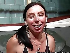 Female deepthroats shemale cock