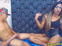 'Wild Shemale and Lover Nasty Cam Show'