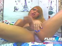 Mathis W on Flirt4Free Transgender - Amazing Ladyboy DPs Her Nice Tight Ass