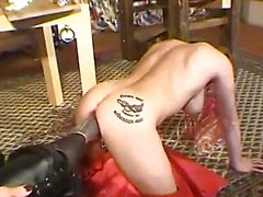 Extreme slave fisted and foot fucked in both holes