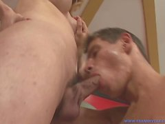 Big Tit TS Star Slut Danielly Marinetto Gets Cock Sucked Then Fucks Dude!