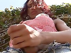 Attractive teen tgirl tries sexperiments