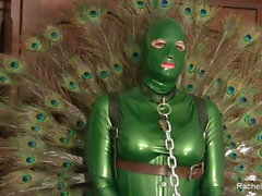 POV - Latex Peacock, Shemale cum-hole
