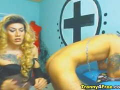 Kinky Tranny Dildos his Neighbor Ass