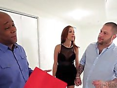 Big booty latina tranny banging black guy