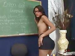 Teacher Tranny Whacking Off In Classroom