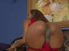 Ebony shemale Becca loves interracial sex