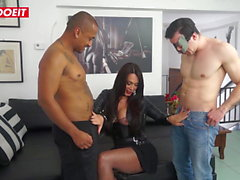 LETSDOEIT - Smoking Brazilian Tranny Enjoys Hot Threesome
