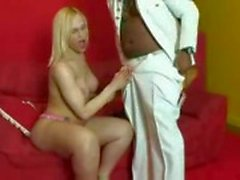 Booty blonde tranny fucked by ebony