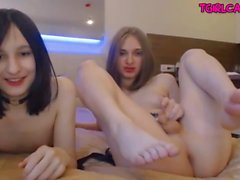 Cute femboy couple mutual blowjobs webcam