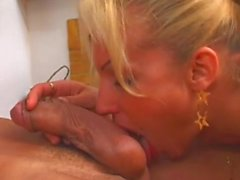 Shemale masseuse gets dirty with her client