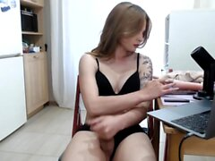 Fetish tranny solo masturbation
