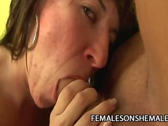 Andreia Mel - Terrific Tranny Plowing A Latin Pussy