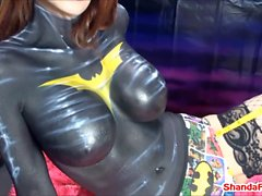 Batgirl Finger Fucks a Guy in the Ass!? Shanda Fay!