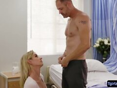 Blonde tbabe Nikki Vicious gets analed in the hospital bed
