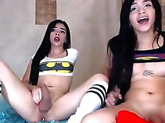 A Couple of Shemale Hotties on Cam.