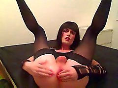 Amateur solo from a burning crossdresser