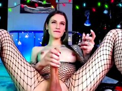 Damn Hot Big Johnson Shemale Babe on Webcam Part 3