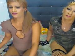 Blonde Shemale Couple Good Blowjob